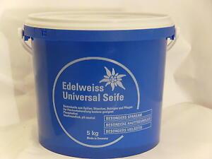(EUR 4,11/kg) Edelweiss Universalseife, Neutralseife,pH-neutr Azett, 5kg.Eimer,