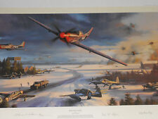 Mustang MAYHEM  Nicolas Trudgian Signed/BY 4 OF THE PILOTS #ED/SIGNED BY ARTIST