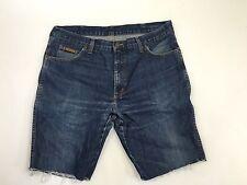 Mens Wrangler Reworked Denim Shorts - W38 - Navy Wash - Great Condition