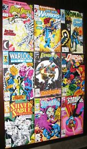 Marvel Infinity War Lot of 9  Moon Knight, Silver Sable, Dr, Strange and More