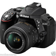 NIKON D5300 DSLR CAMERA BLACK AF-P 18-55 VR LENS 8GB CARD,BAG, VAT PAID INVOICE