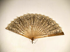 Antique Victorian Style Handmade Sequin Hand Fan