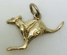 Solid Vintage 9ct Gold KANGAROO Jumping Charm Pendant with jump ring 1.43 grams