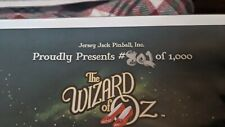 Wizard of Oz emerald edition certificate of authenticity 802 of 1000 pinball