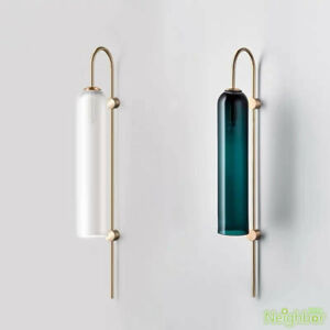 Nordic Glass Tube Wall Lamps LED Wall Sconce Wall Light Bedroom Porch Lightings