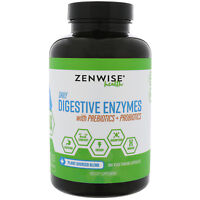 Zenwise Health  Daily Digestive Enzymes with Prebiotics   Probiotics  180