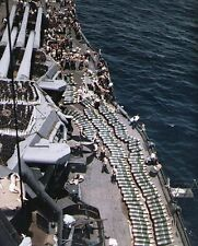 COLOR WWII Photo USS New Mexico BB-40 Ammo on Deck US Navy WW2  / 7080  NEW
