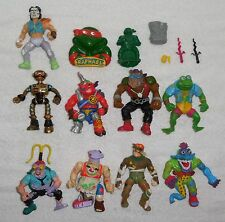 Vintage 80s/90s TMNT TEENAGE MUTANT NINJA TURTLES 15 Piece FIGURE/ACCESSORY Lot