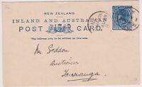 NEW ZEALAND 1899 POSTAL CARD QV