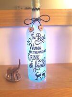 LED Star Light Up Bottles Gift For a Friend//Wine drinker
