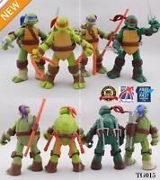 """4Pcs Teenage Mutant Ninja Turtles 5"""" Action Figures Collection Toys TMNT TG015"""