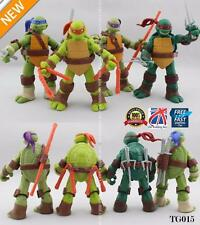 "4Pcs Teenage Mutant Ninja Turtles 5"" Action Figures Collection Toys TMNT TG015"