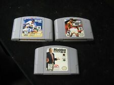 3 Nintendo 64 N64 Video Games All-Star Baseball 2000 Knockout Kings Madden 64