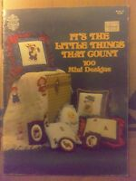 Gloria Pat Cross Stitch Chart Leaflet Pattern It's The Little Things That Counts