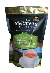 McEntee's Irish MINT & NETTLE INFUSION - 75g Bag - BLENDED IN IRELAND