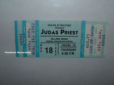 JUDAS PRIEST Unused 1982 MINT Concert Ticket FRESNO SELLAND ARENA Very Rare