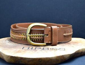 Hugo Boss Ninfa Womens Leather Waist Belt Brown Size 28