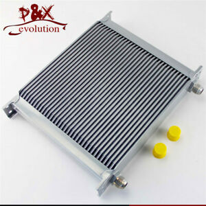 Universal 34 Row An-10an Universal Engine Transmission Oil Cooler Silver