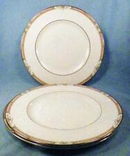 Royal Doulton Hardwick 3 Dinner Plates H5146 Porcelain Peach Edge Orange Flowers