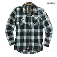 Surplus Lumberjack Mens Casual Or Work Long Sleeve Checked Shirt Brushed Cotton