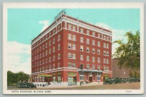McCook Nebraska~Hotel Keystone~1920s Postcard