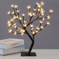 48 LED Bianco Caldo Luci Fiori di Ciliegio Bonsai Albero Spina Luce Natale UK