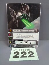 Wargaming X Wing Alt Art Promo 2013 Black Squadron Pilot Card 222