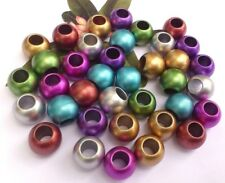20 Round Rondelle Spacers Metallic, All Colours 12mm *large hole*