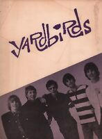 YARDBIRDS / JEFF BECK 1965 U.S. TOUR CONCERT PROGRAM BOOK BOOKLET / VG 2 NMT