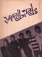 YARDBIRDS / JEFF BECK 1965 U.S. TOUR CONCERT PROGRAM BOOK BOOKLET / EX 2 NMT