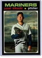 Yusei Kikuchi 2020 Topps Heritage 5x7 #408 /49 Mariners
