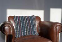 "Cushion made of British Rail Grey ""Trojan""  Moquette Fabric Retro 1960s Look"