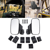 """ATV and UTV Rear Side View mirror 1.75"""" and 2"""" Roll Bar for Polaris Ranger RZR"""
