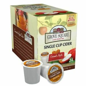 Grove Square Cider Single Serve Cups, Caramel Apple, 24 24 Count (Pack of 1)