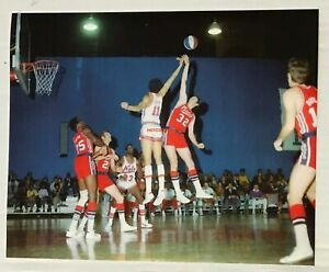 1969 NEW ORLEANS BUCCANEERS @ NY NETS ABA 8X10 REPRINT PHOTO DOVE TART MORELAND