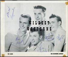 THE JADES Signed AUTOGRAPH Photo VINTAGE 4 signatures! Early '50s Rock 'n' Roll