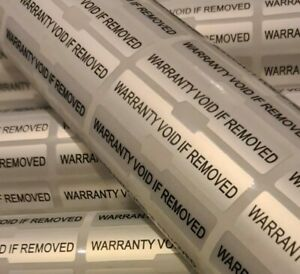 Dogbone Warranty Void Stickers Silver Tamper Proof Evident Labels High Security