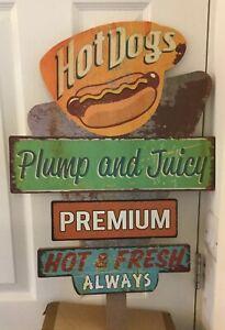 Hot Dog Wooden Sign