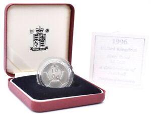 £2 Coin Silver Proof 1996 Football BOX + COA Royal Mint