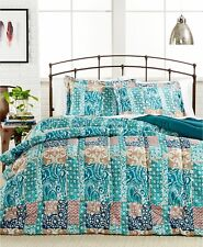 Painted Patchwork 2-Pc. Reversible Comforter Set - TWIN / TWIN XL - Turquoise