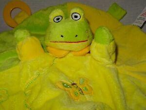 Frog snuggz green and yellow comforter blankie