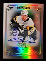 TEDDY BLUEGER - 2019/20 UD Stature Base Auto Rookie #d /199 PITTSBURGH PENGUINS
