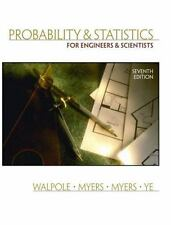 Probability and Statistics for Engineers and Scientists 7th Edition