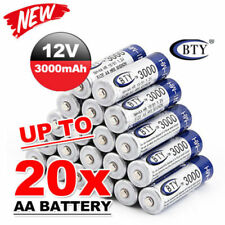 20 Pcs BTY AA BTY AA batterie rechargeable 1.2 V 3000 mAh Ni-MH