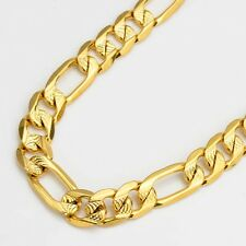 """Men Necklace 24k Yellow Gold Filled Charms Link 24"""" Chain Fashion Jewelry"""