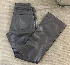 J1 Vintage Gap Genuine Black Leather Pants Boot Cut Size 2 Women's