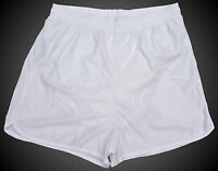 Don Alleson White Polyester Running / Track Shorts - Men's 2XL