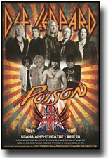 Def Leppard Poster w Poison Concert USA SameDay Ship 11 x 17 inches Rock of Ages