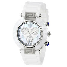 New Versace Women's 92CCS1D497 S001 Reve Ceramic Bezel Chronograph White Watch