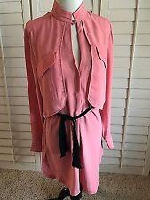HALSTON HERITAGE LS Double Layer Dress M NWT $325